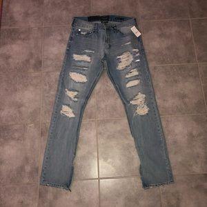NEW Mens Pacsun 32x32 Skinny  Denim Ripped Jeans